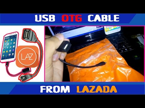 Cheap USB OTG Cable from Lazada (USB Female to Male Micro USB) for android