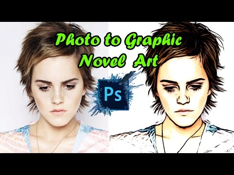 Photo to Graphic Novel Art Photoshop Tutorial