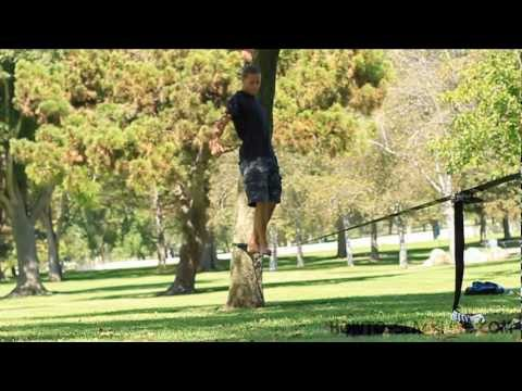 How to Slackline Basics: Get on a Slackline with Object for Beginners