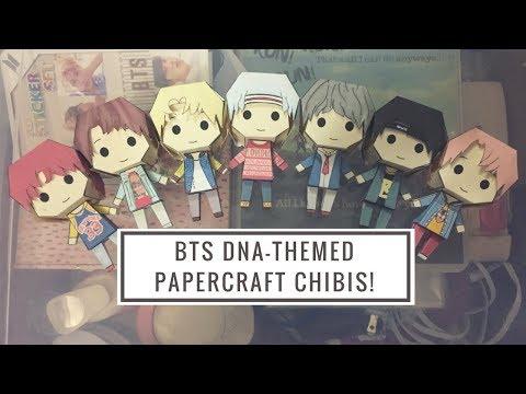 DIY BTS DNA-themed Papercraft Chibis