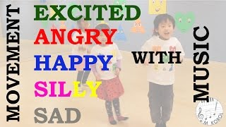 Music & Movement 5 emotions Excited Angry Happy Silly Sad from the Game