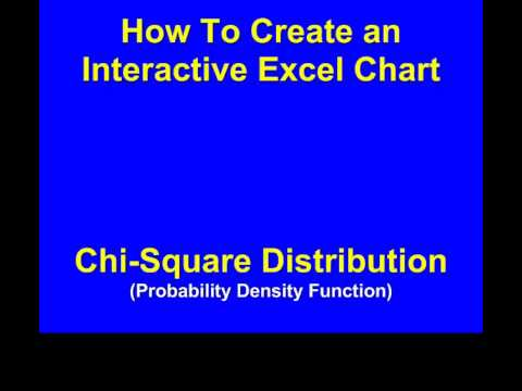 How You Can Create an Excel Graph of the Chi-Square Distribution - PDF - with INTERACTIVITY !