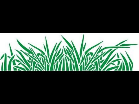 grass stencil with silhouette Cameo tutorial