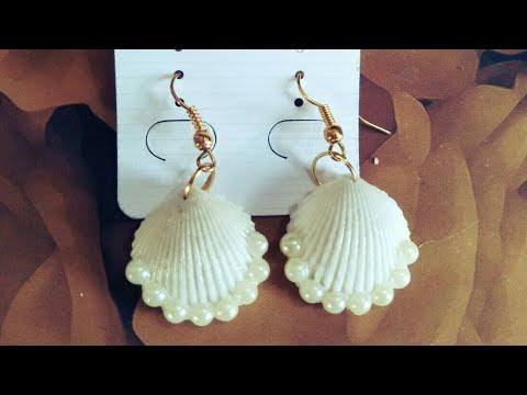 DIY Shell Earrings | Sea Shell and Pearl Earrings | How to make Sea Shell and Pearl Earrings at home