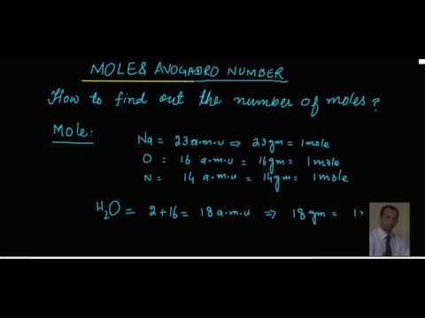 moles and calculations of moles in hindi and urdu lecture1
