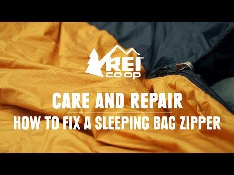 How to Fix a Sleeping Bag Zipper    REI