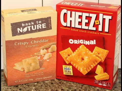 Back to Nature vs Cheez-It: Cheese Cracker Blind Taste Test