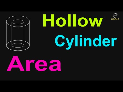 Total surface area of a Hollow Cylinder or Pipe | in Hindi