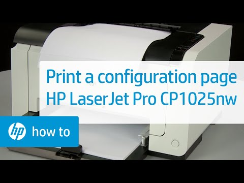 Printing a Configuration Page - HP LaserJet Pro CP1025nw Color Printer