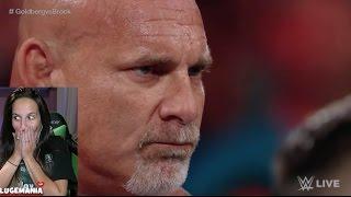 WWE Raw 11/14/16 Goldberg and Brock Lesnar HYPE