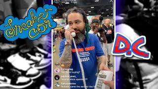 Spending over $400,000 on sneakers at Sneakercon Washington D.C. (over 1400 pairs)