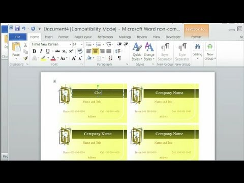 How to Change Microsoft Word to Avery Templates : Using Microsoft Word
