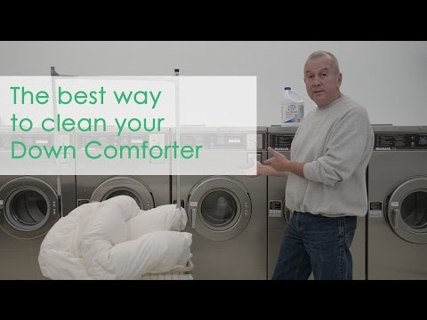 How to clean your Down Comforter...