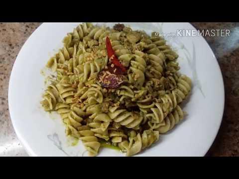 Pesto Pasta with Dried fish/tuyo