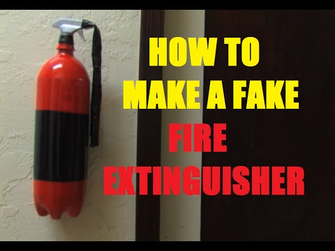 How to make a fake Fire Extinguisher