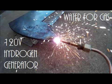120 Volt Hydrogen Generator HHO Water for Gas!!!