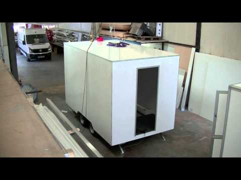 Mobile Catering Trailer Unit Manufacture time lapse