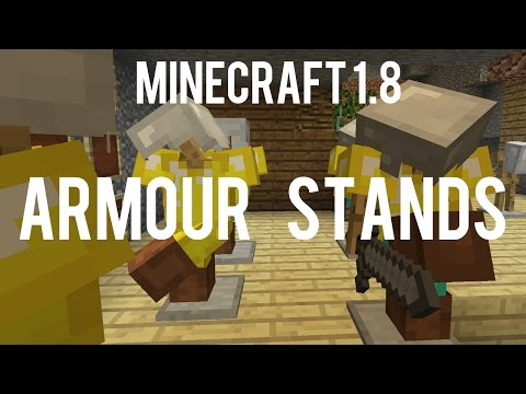 How To Make And Use Armor Stand - Change Their Pose, Arms, Invisible, Small - Minecraft 1.8