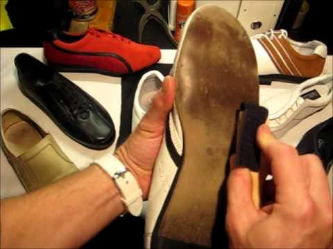 How to brush dance shoe suede soles.wmv