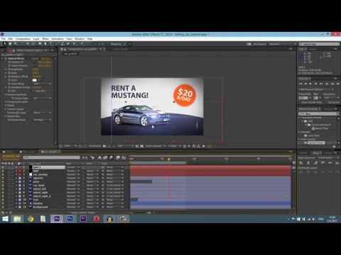After Effects tutorial - Simple car commercial