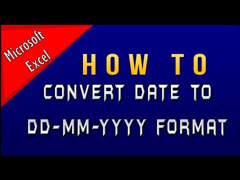 How to Convert Date Format in Microsoft Excel in DD MM YYYY Part-1