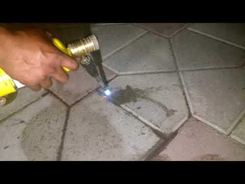 Removing oil on pavers concrete driveway