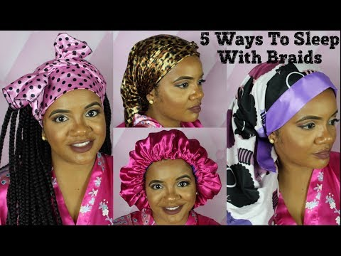 How To Sleep With Box Braids | Comfortable Quick and Easy