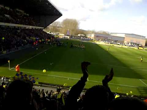 Oxford United Fans singing before kickoff against Swindon 03/03/2012