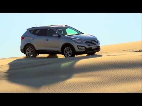 2013 Hyundai Santa Fe Highlander Driving on Australian Sand Dunes