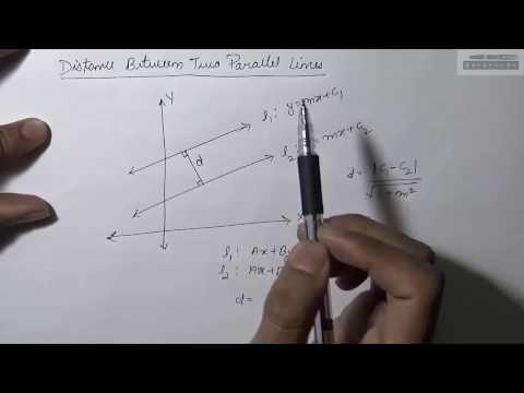 How to Find Distance Between Two Parallel Lines (Hindi)? | Part-1