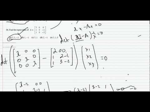 Adjoint & Eigen Values of 3x4 Matrix + Examples# 15  & 16 (Part 7).avi