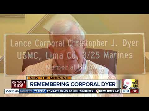 Evendale to unveil memorial in honor of Lance Cpl. Christopher Dyer