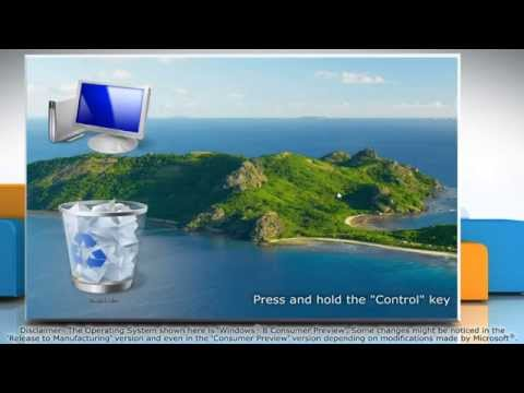 How to Hide, Show and Resize Desktop icons in Windows® 8
