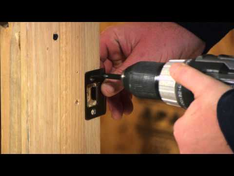 How to Replace an Interior Door Latch That Won't Stay Closed : Door Installation & Repairs