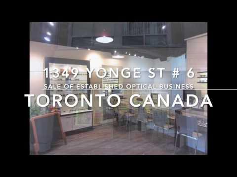 1345 Yonge St # 6 Toronto   Established Boutique Optical Business For Sale in Rosedale