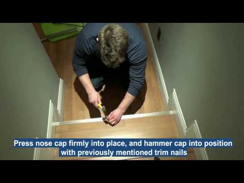 How to remove old stair nose end caps and install new ones
