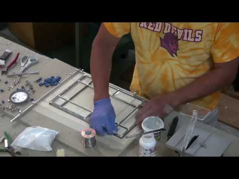Making a Leaded Glass Panel