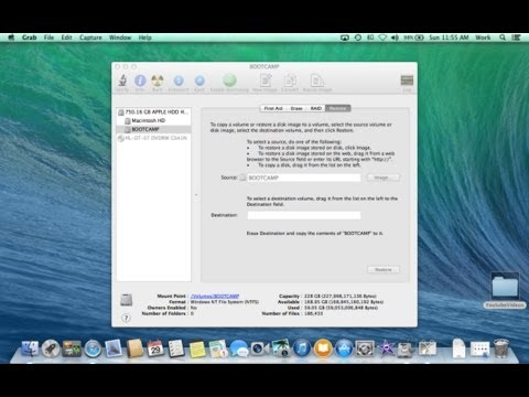 How to Create a BootCamp Image for Backup and Restoration on a Mac | Upgrade to Mavericks Easily
