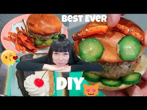 Making The Best Burger I've Ever Eaten! Must Try! Vietnamese-Style Banh Mi Burger!