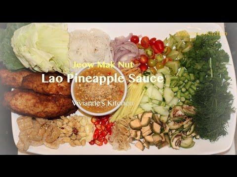 Lao Pineapple Sauce, Jeow Mak Nut