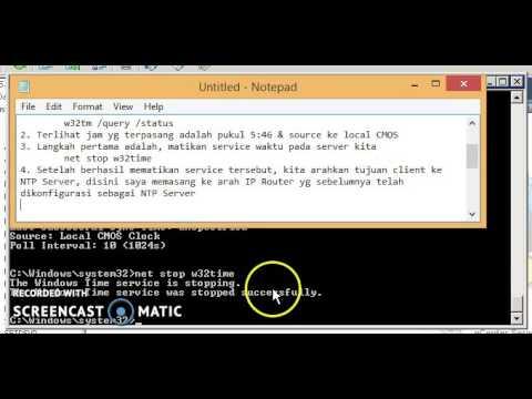Configure & Synchronize time on windows server 2008