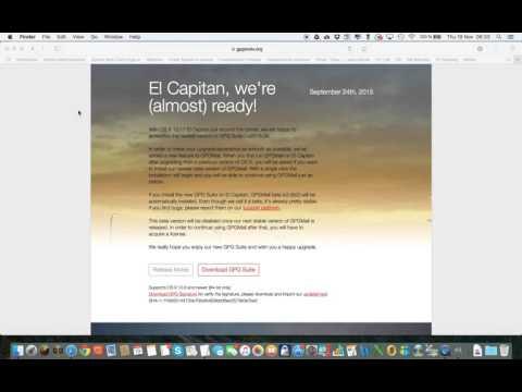 GPGtools on OSX El Capitan