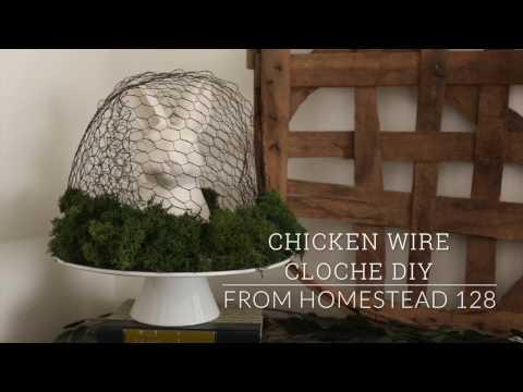 Chicken Wire Cloche DIY