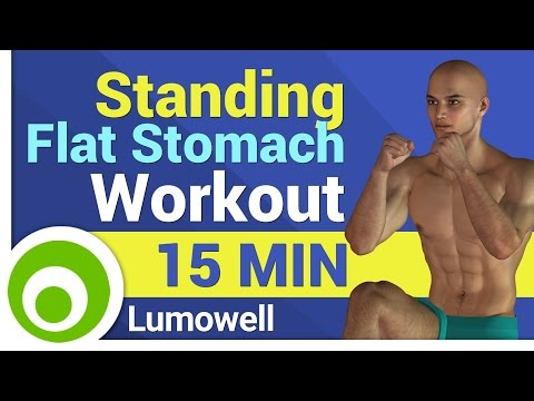 Standing Flat Stomach Workout. 15 Minute Abs to Lose Belly Fat