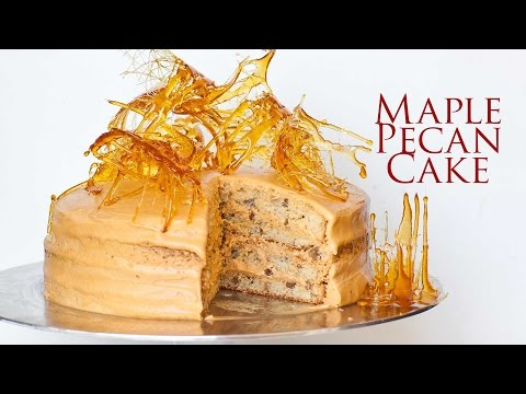 Maple Pecan Cake with Salted Caramel Frosting