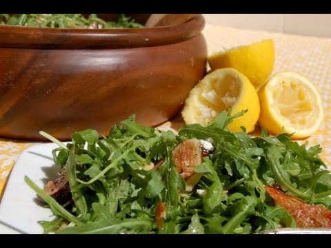 Salad Recipe: Arugula Salad with Lemon Vinaigrette by Everyday Gourmet with Blakely