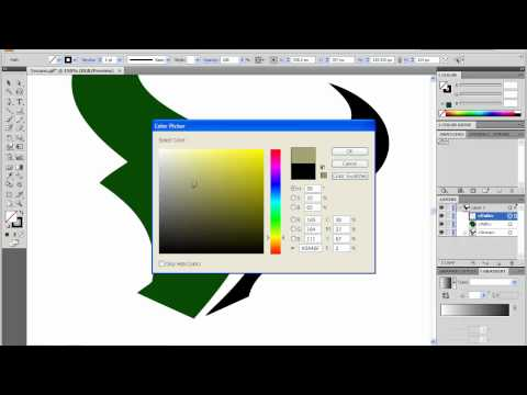 Adobe Illustrator CS4 Tutorial - How to change a logo using Live Trace