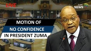 Motion of no confidence in President Zuma