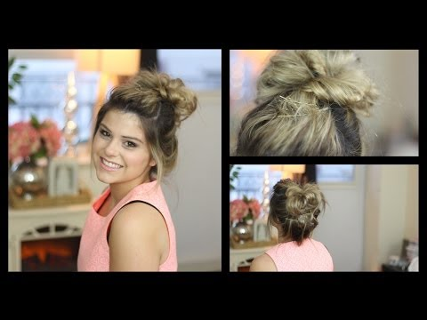 Messy Bun Tutorial [using Hair Extensions!!]