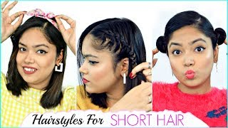 Life HACKS for SHORT HAIR - 4 Hairstyles You MUST Try | Anaysa